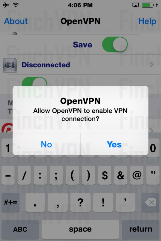 Allow OpenVPN connection
