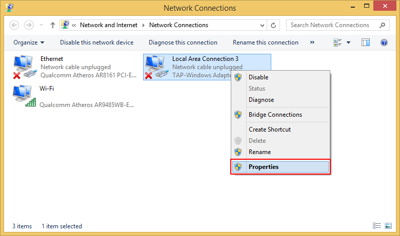 Installing the TAP-Win32 driver - OpenHIP