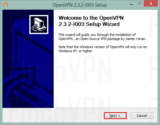 Open the OpenVPN installer