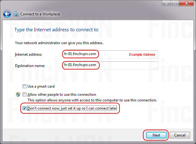 Setting up a PPTP connection on Windows 7 | FinchVPN